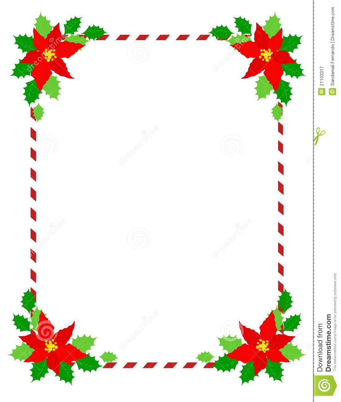 Christmas Frame Poinsettia Royalty Free Stock Photography