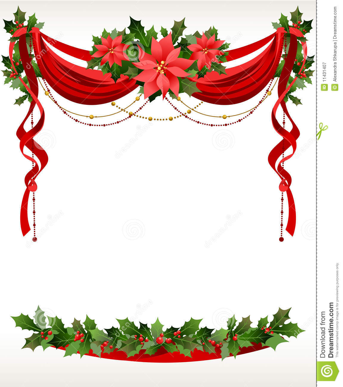 Christmas Frame With Pointsettia Royalty Free Stock Photography ...
