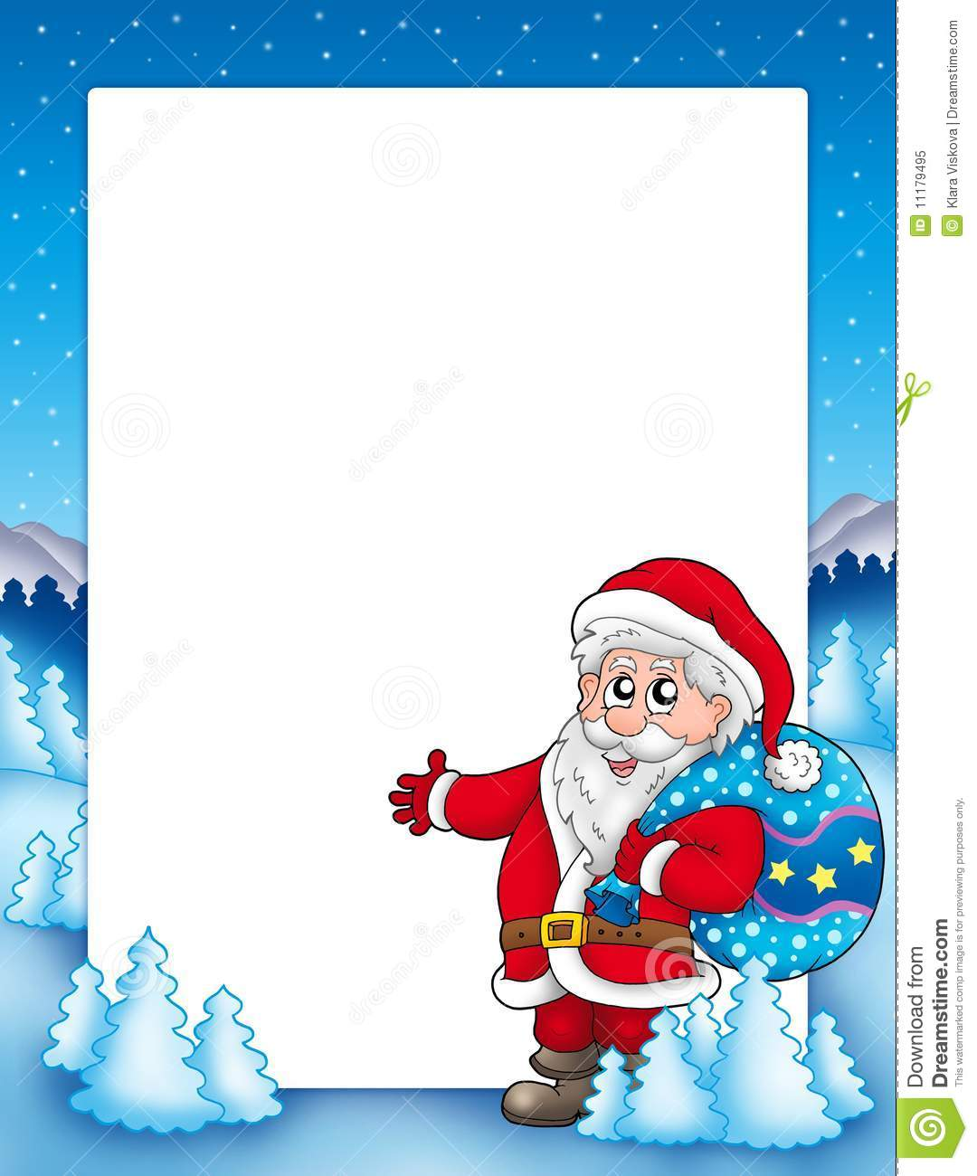 christmas frame with santa claus 1 royalty free stock