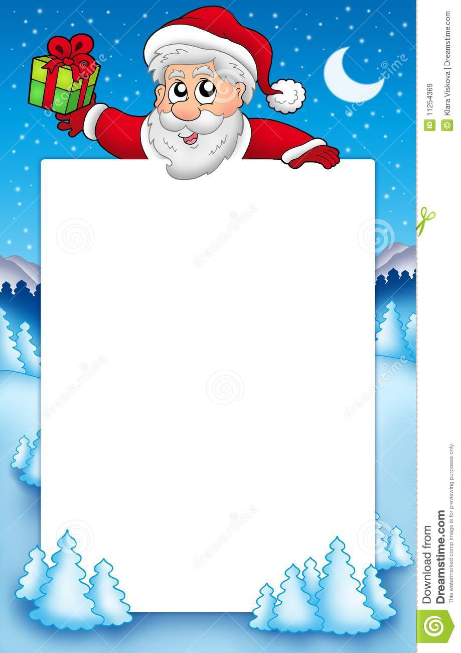 Christmas Frame With Santa Claus 5 Stock Illustration Illustration