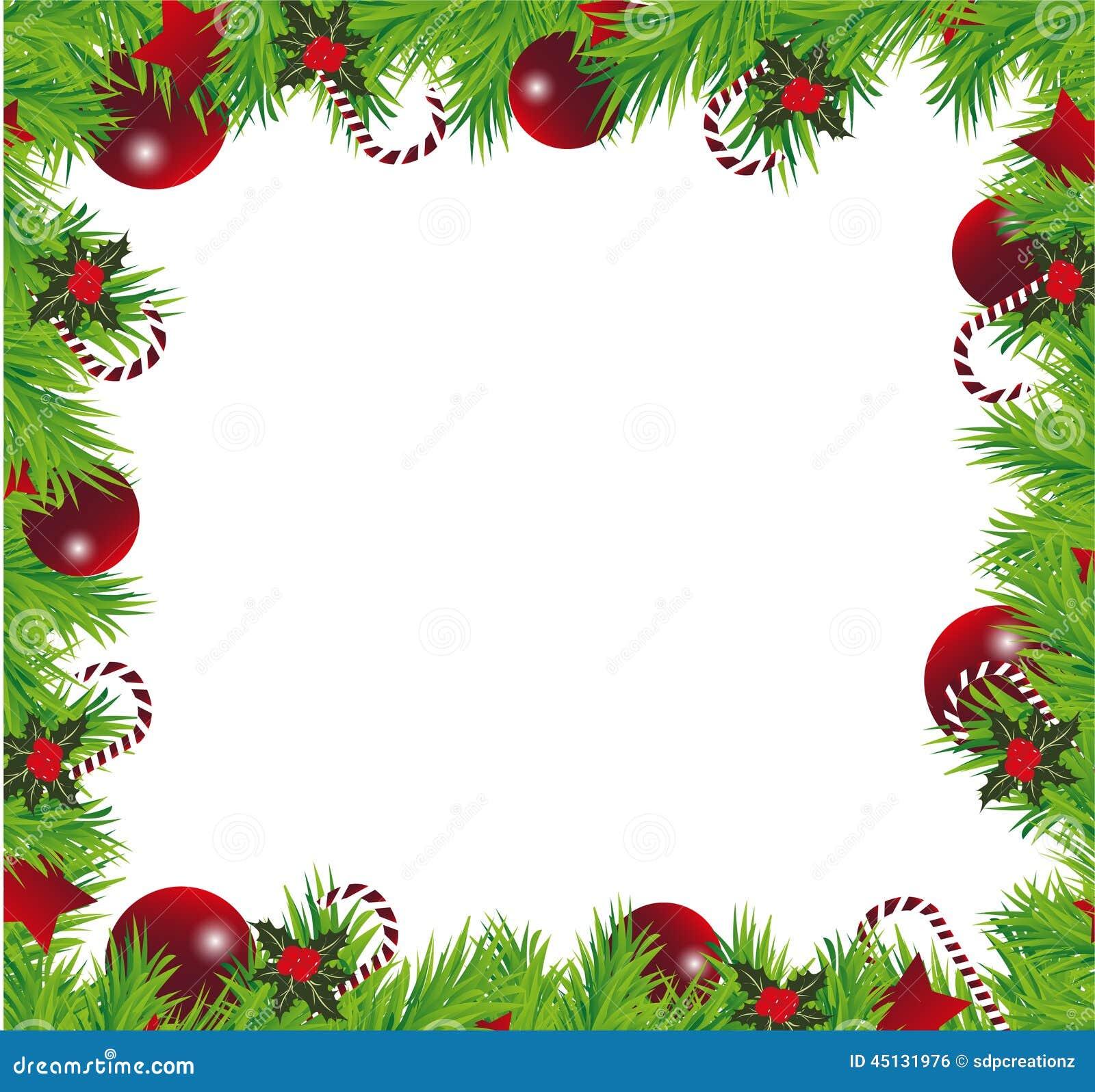 Christmas Frame Stock Illustration Illustration Of