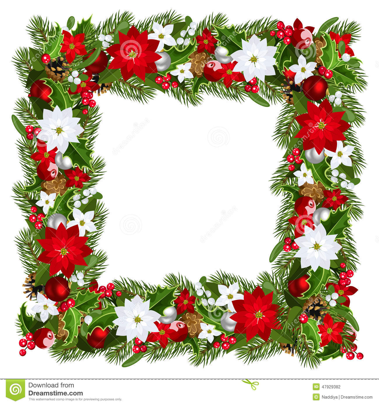 Christmas Frame Vector Illustration Stock Vector Image