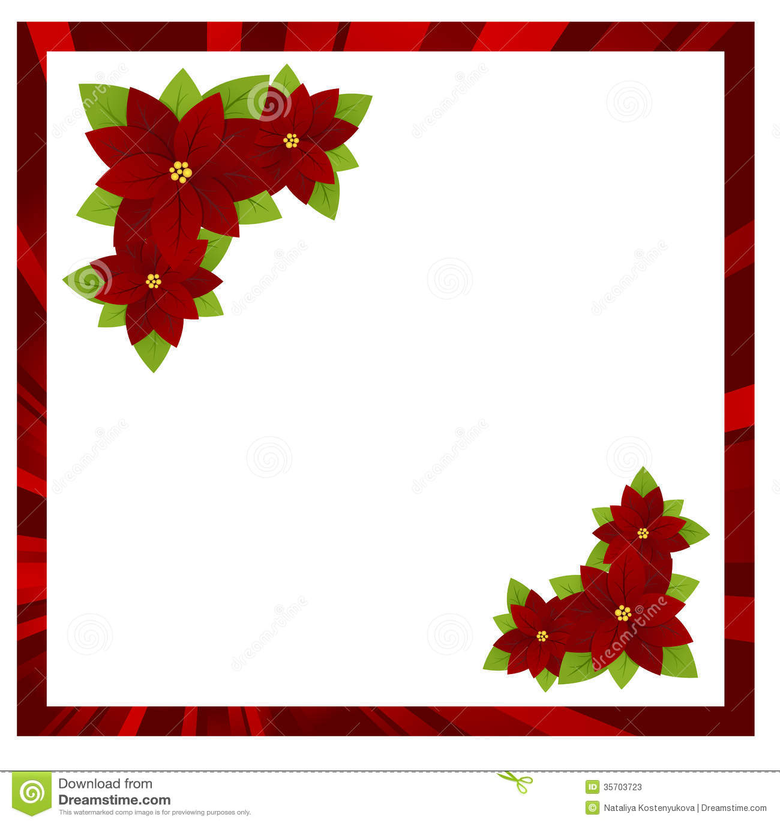 Christmas frame stock photos image 35703723 for Poinsettia christmas tree frame