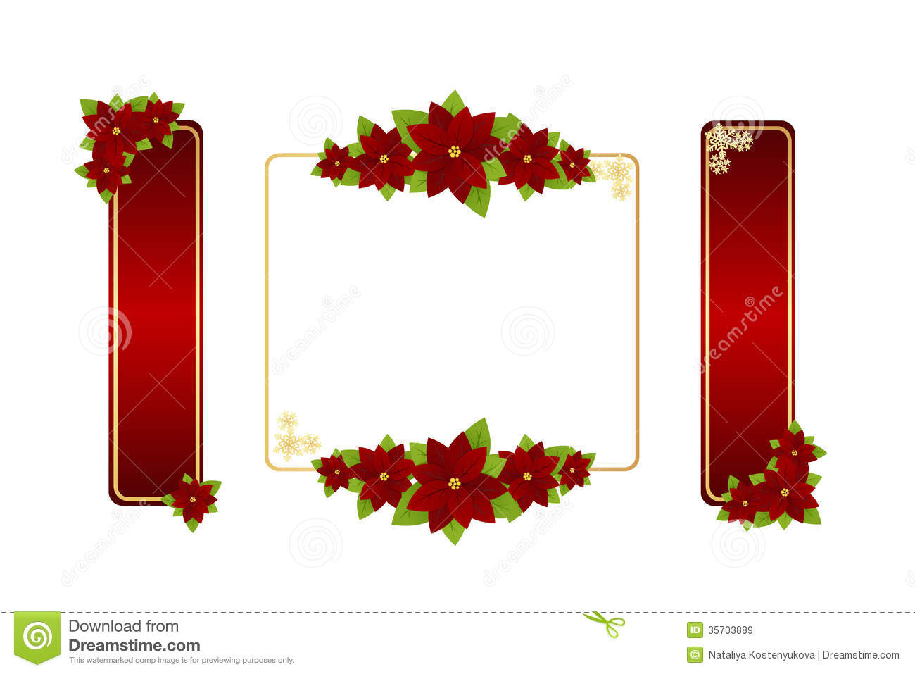 Christmas Frames Royalty Free Stock Images - Image: 35703889