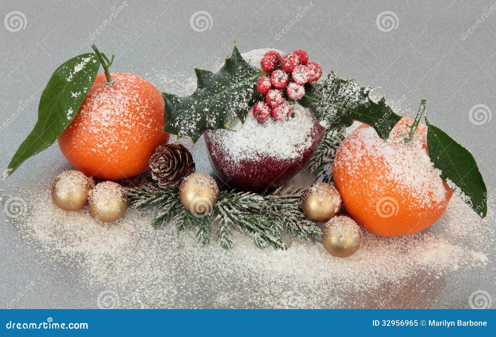 Christmas fruit decoration royalty free stock photo for Apple fruit decoration