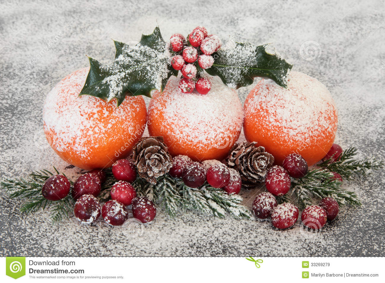 Superior Christmas Fruit Decorations Part - 12: Christmas Fruit Display Royalty Free Stock Images