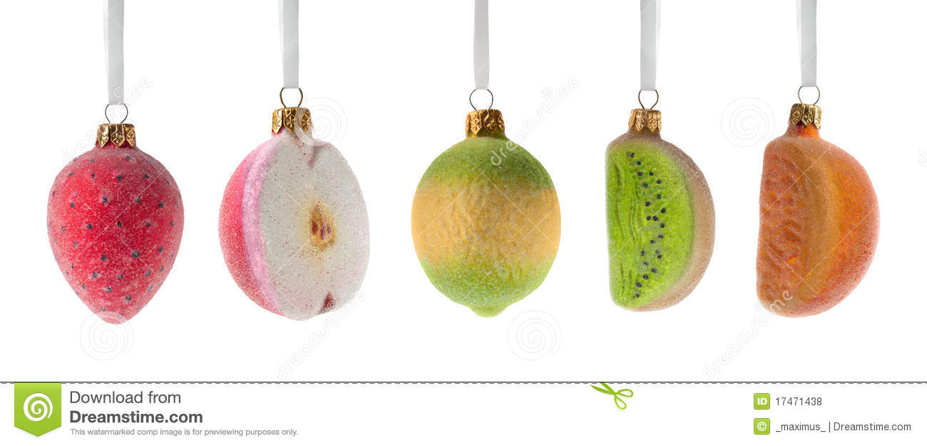 Christmas fruits decoration royalty free stock photos for Apples for decoration