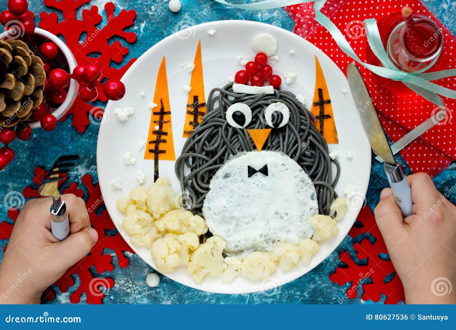 Christmas Fun Food Art Idea For Kids Penguin Black
