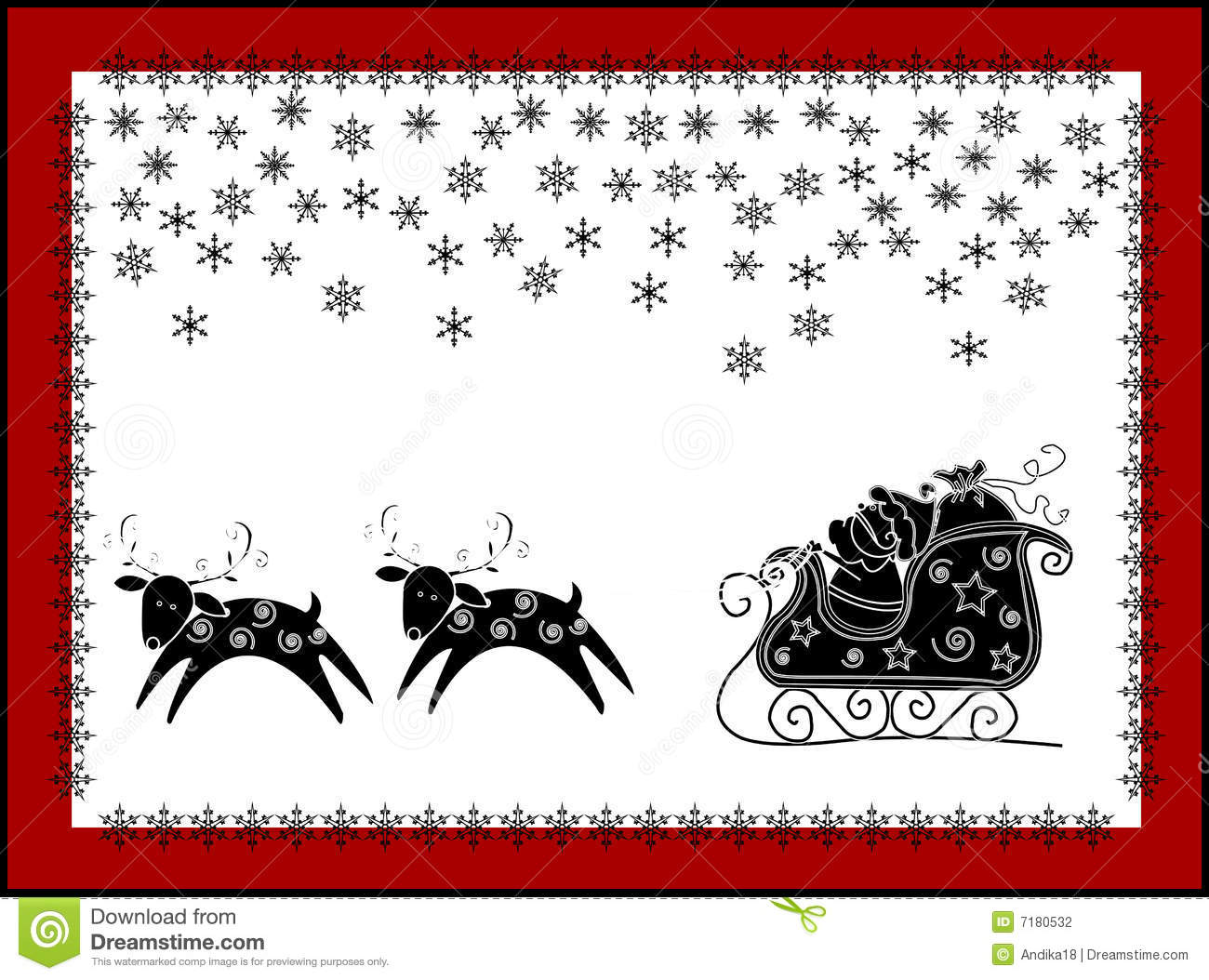 Christmas Funny Card Stock Illustration Illustration Of Drawings