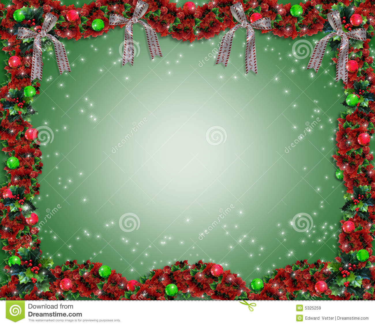 Christmas garland background or border stock illustration