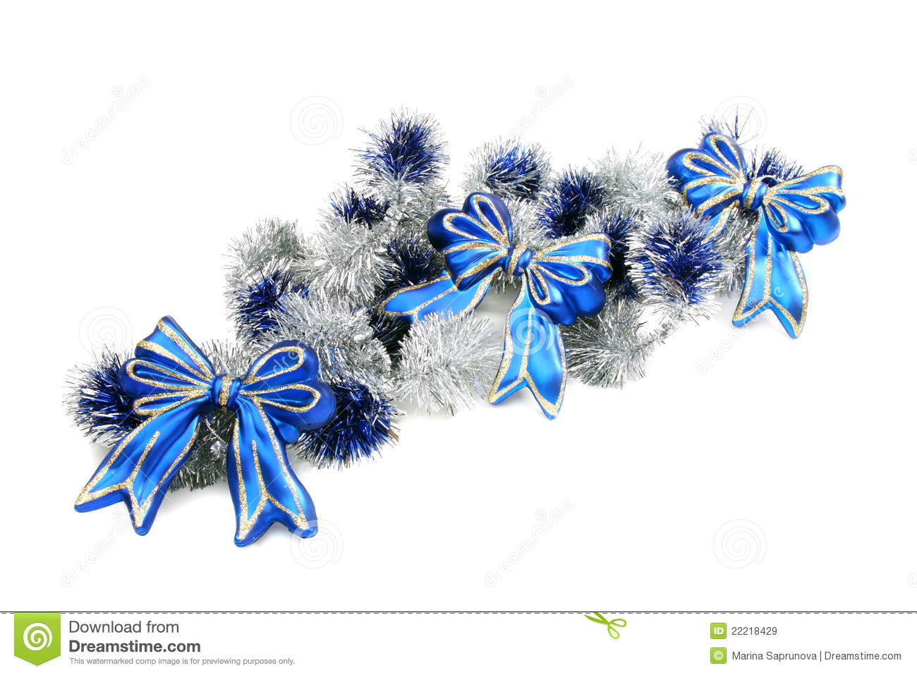 White And Silver Christmas Garlands