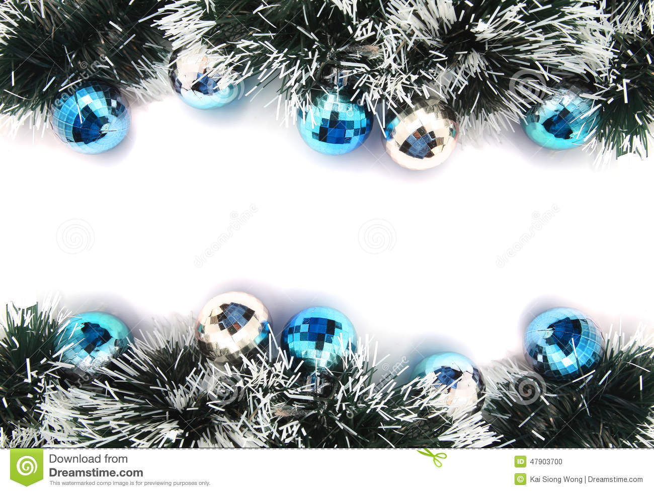 Christmas garland stock photo image of glitter green