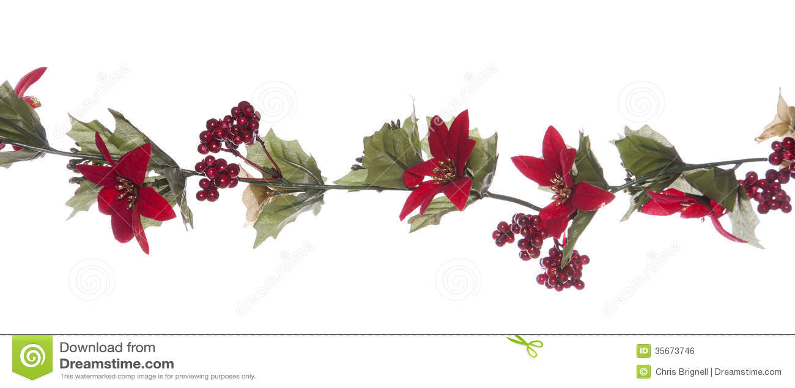 Christmas Garland Border Royalty Free Stock Image - Image: 35673746