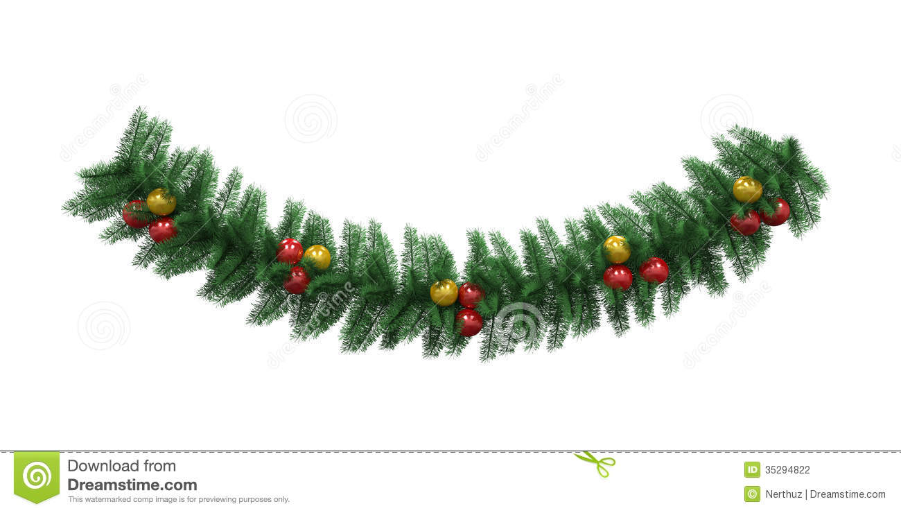 Christmas Garland Decoration Stock Illustration - Image ...