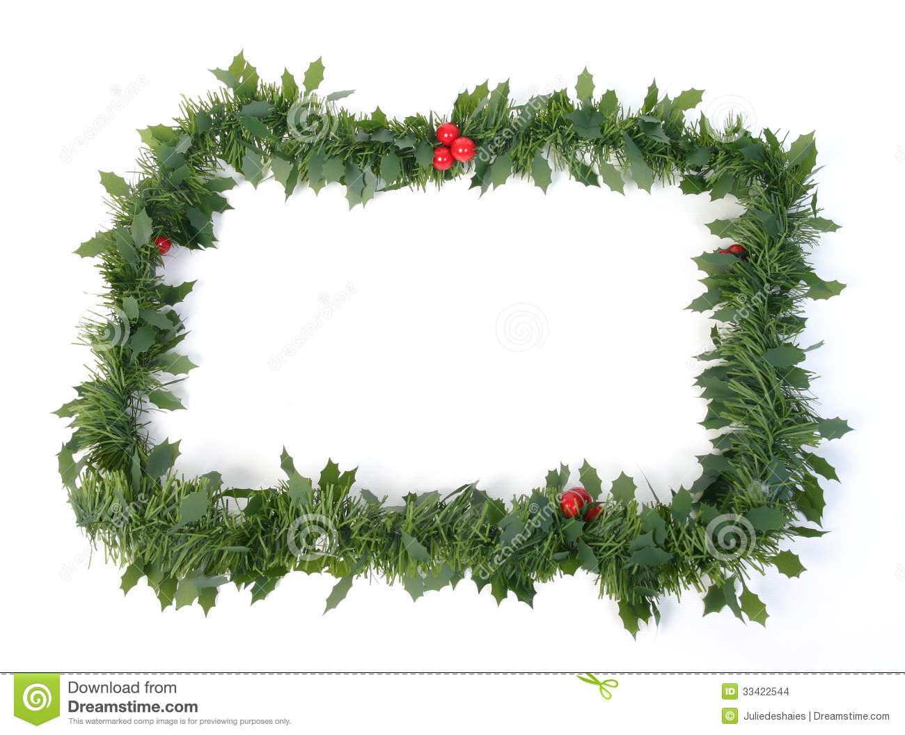 Christmas garlands decorations - Christmas Garland Stock Images