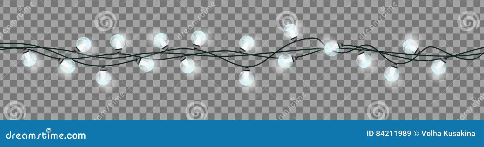 Christmas Garland On A Transparent Background Stock Illustration