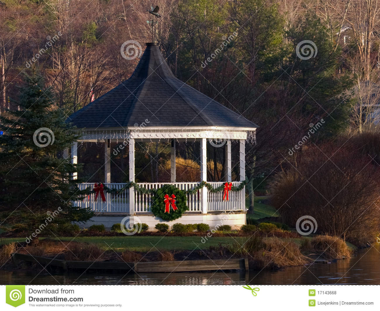 Christmas Gazebo Stock Photo Image Of Carolina Hometown
