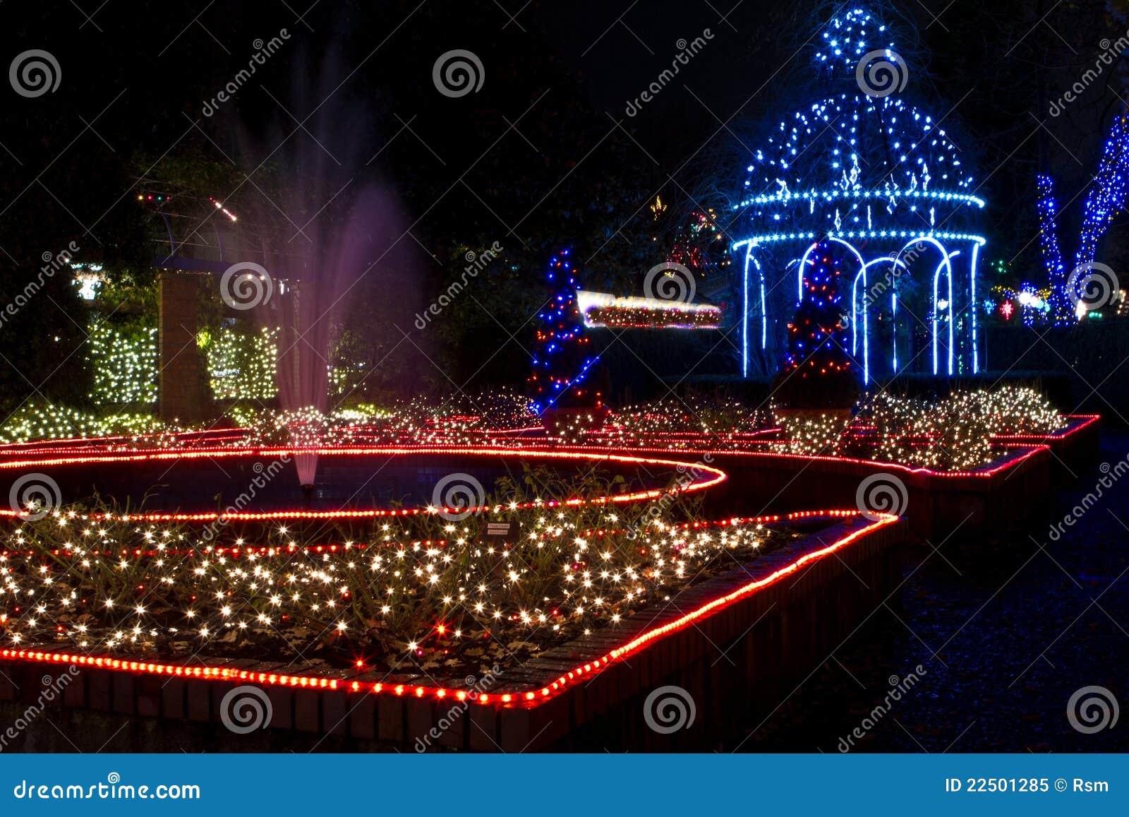 Christmas Gazebo And Fountain Royalty Free Stock Photo