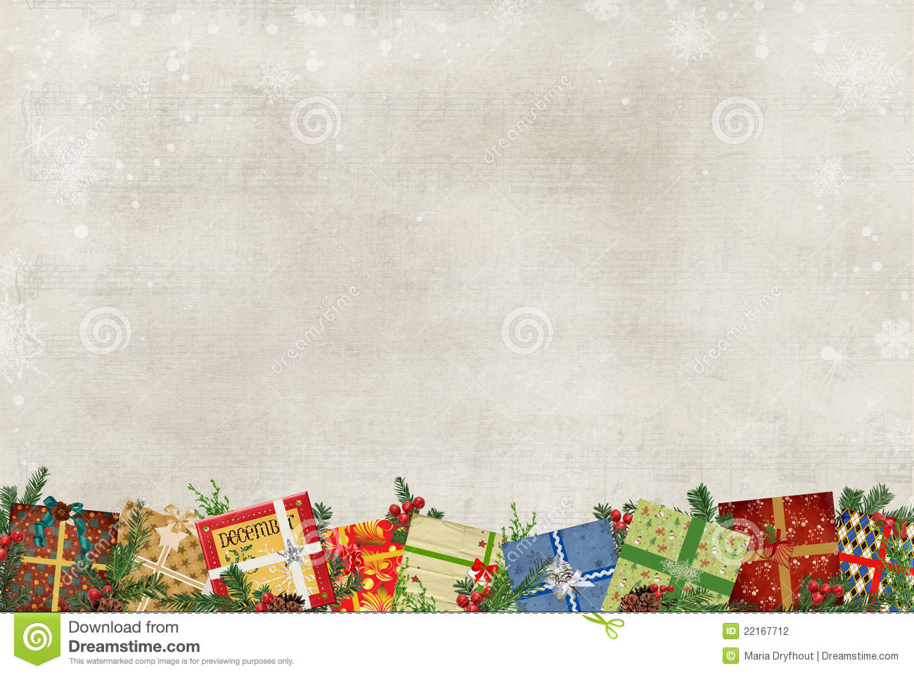 Christmas Gift Border Stock Photography - Image: 22167712
