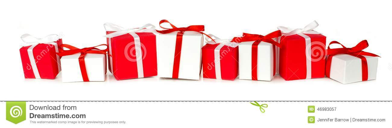 Christmas gift border stock image. Image of collection - 46983057