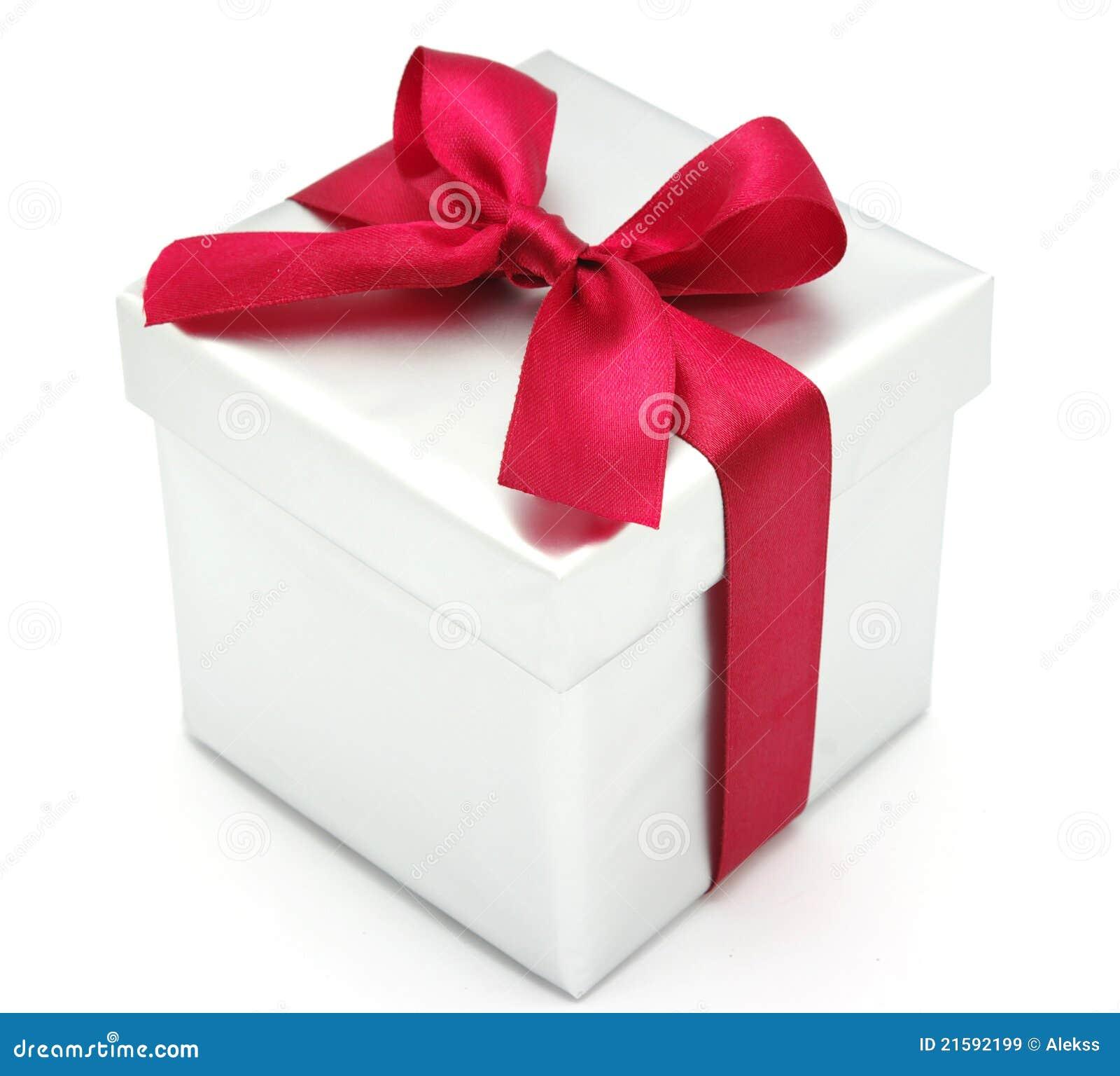 Christmas gift box stock image of celebration