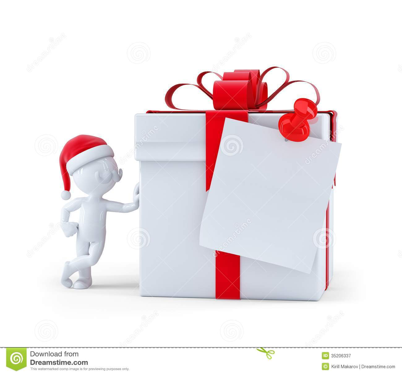 Christmas gift with card