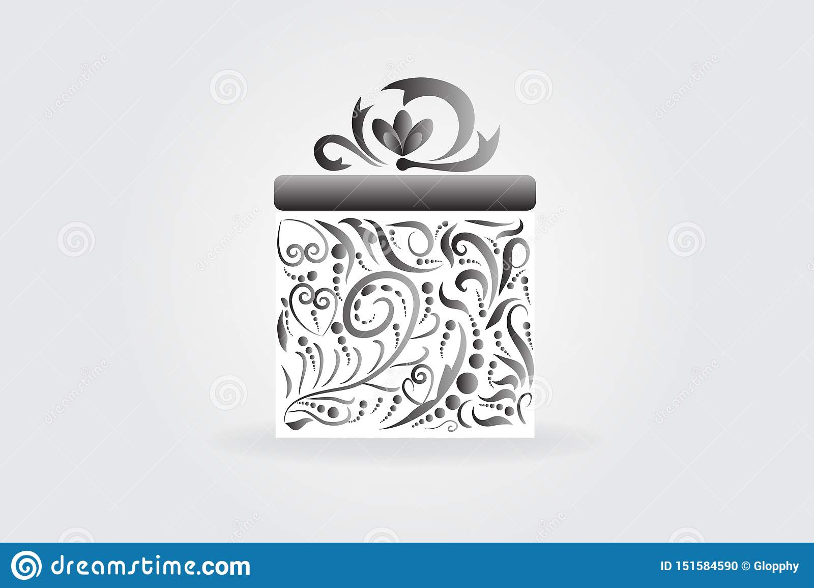 Christmas Gift Box Stock Vector Illustration Of Greeting 151584590