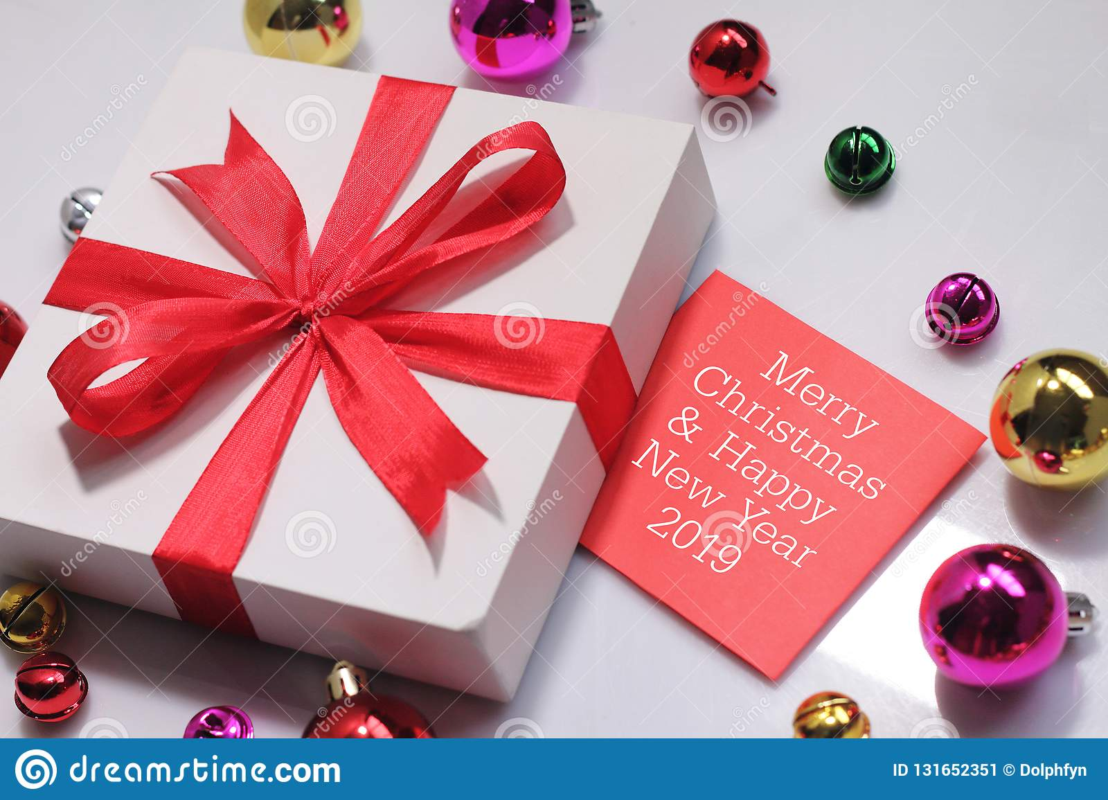 Christmas Gift Box With Greeting Card Wishing You Wonderful Memories During This Joyous Season Stock Image Image Of Gift Wishes 131652351