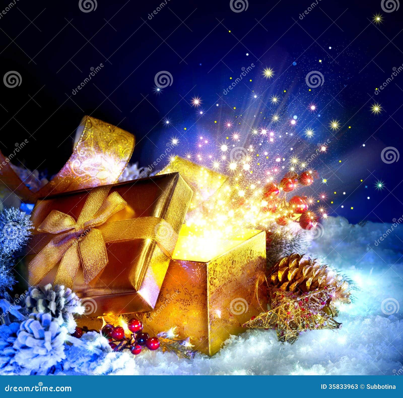 Christmas Gift Box Stock Photos Image 35833963