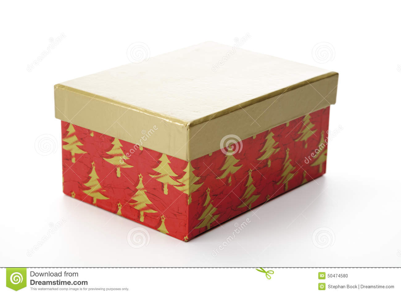Christmas Gift Box With Separate Lid Stock Photo Image Of Holiday