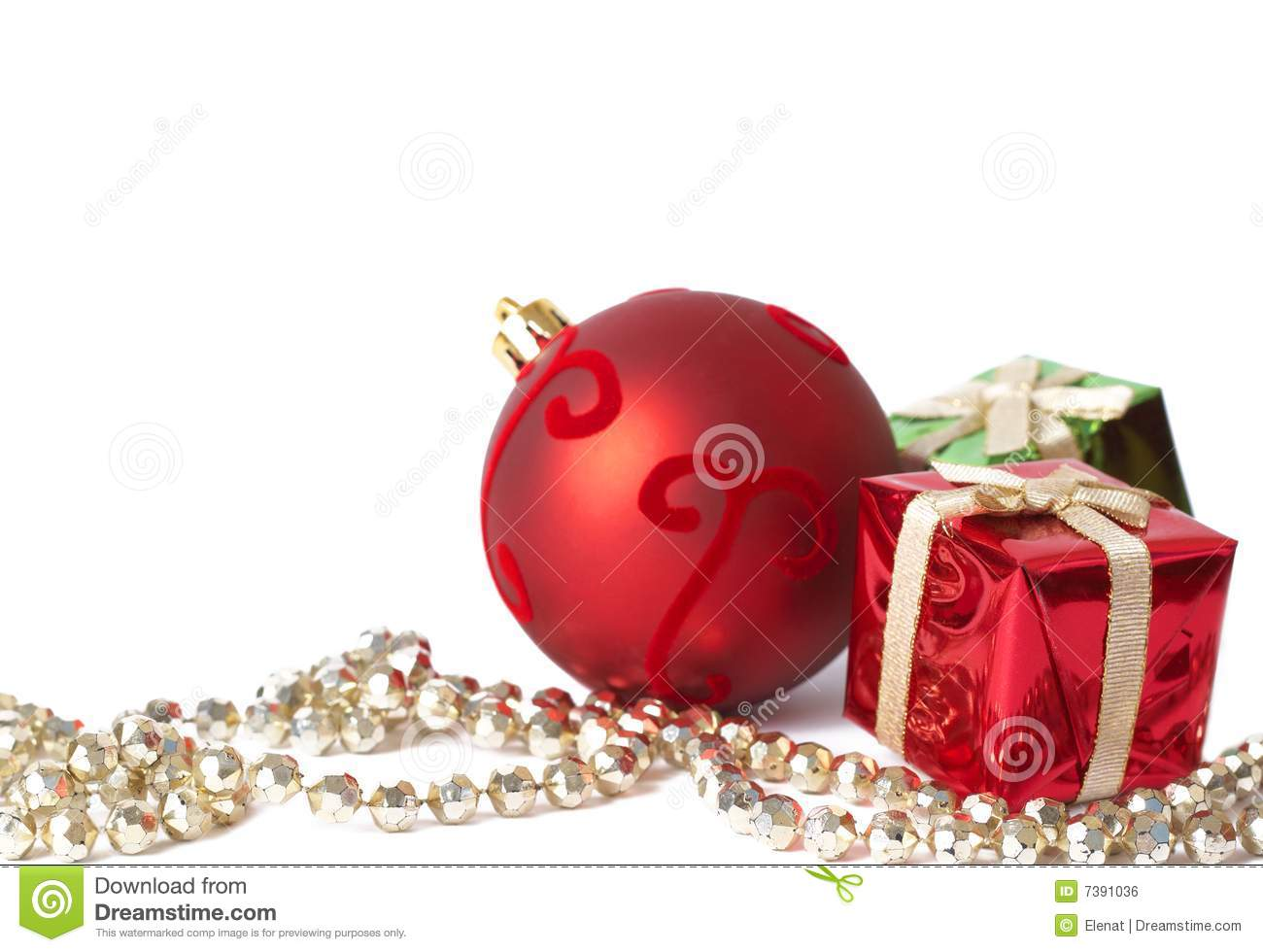 Christmas gift boxes ball and jewelry stock photo image