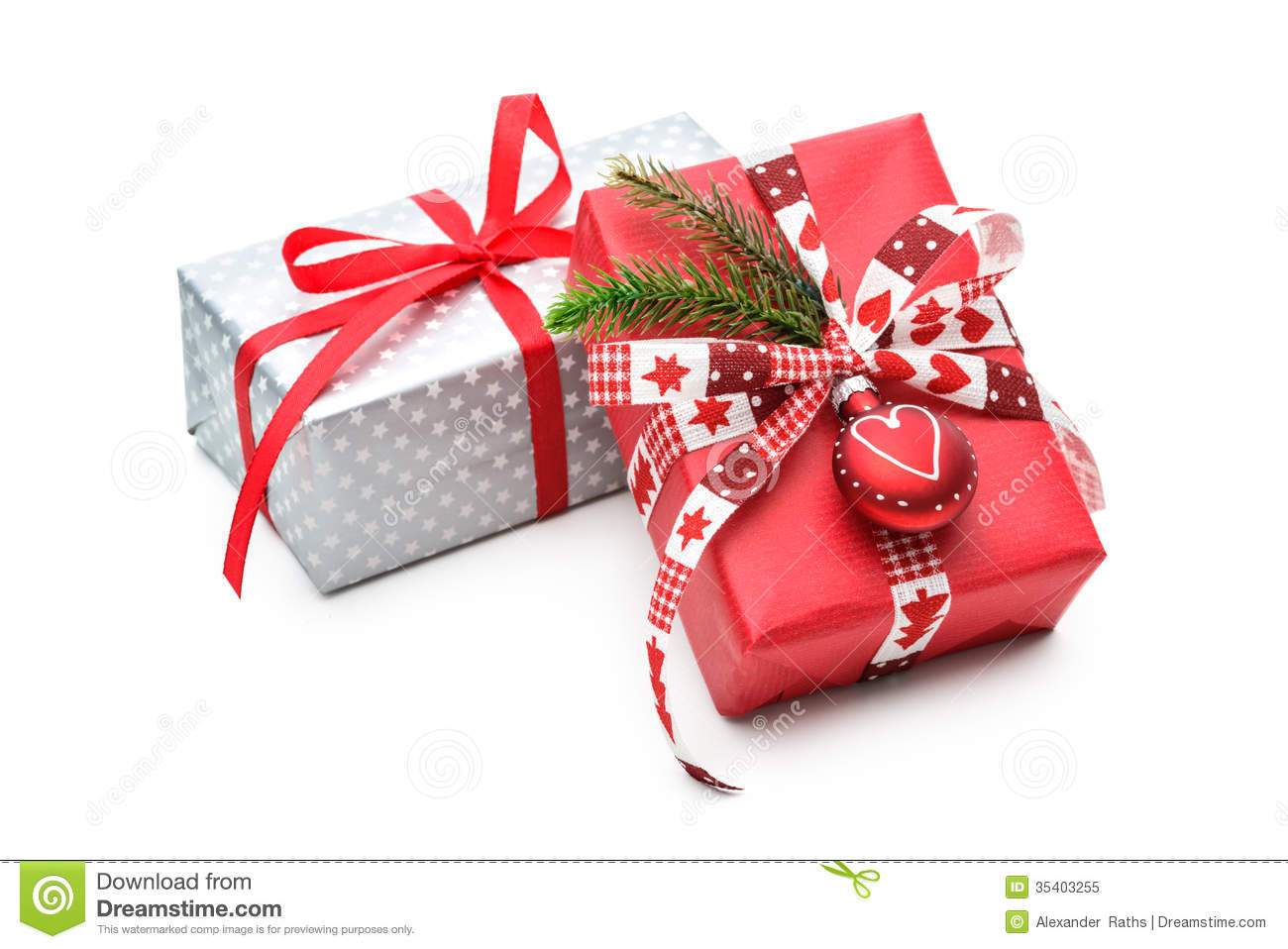 Christmas Gift Stock Image. Image Of Isolated, Bright