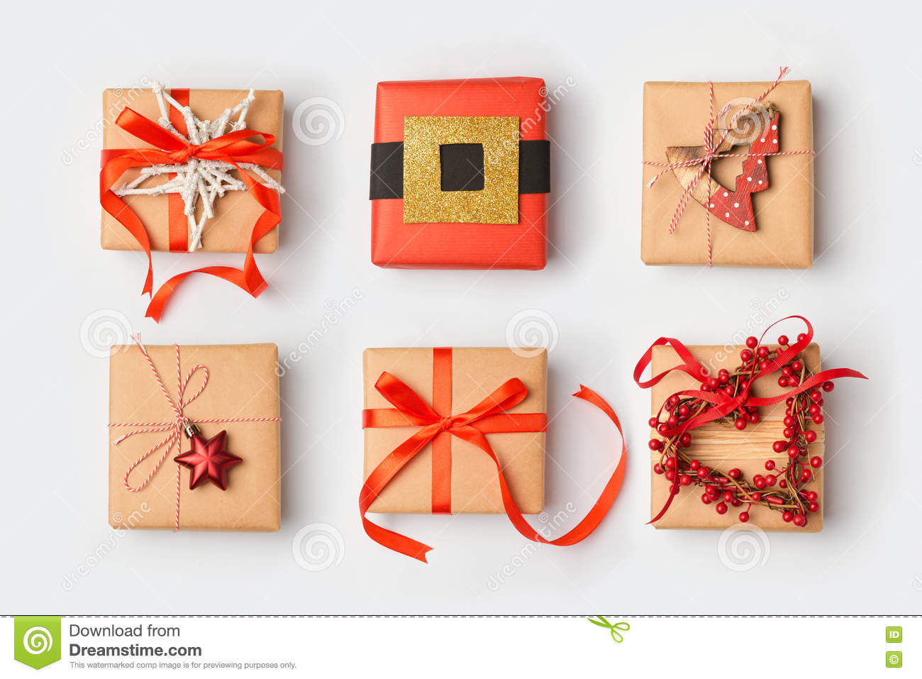 Wrapping Presents Christmas Gift Boxes With Homemade Creative Wrapping View