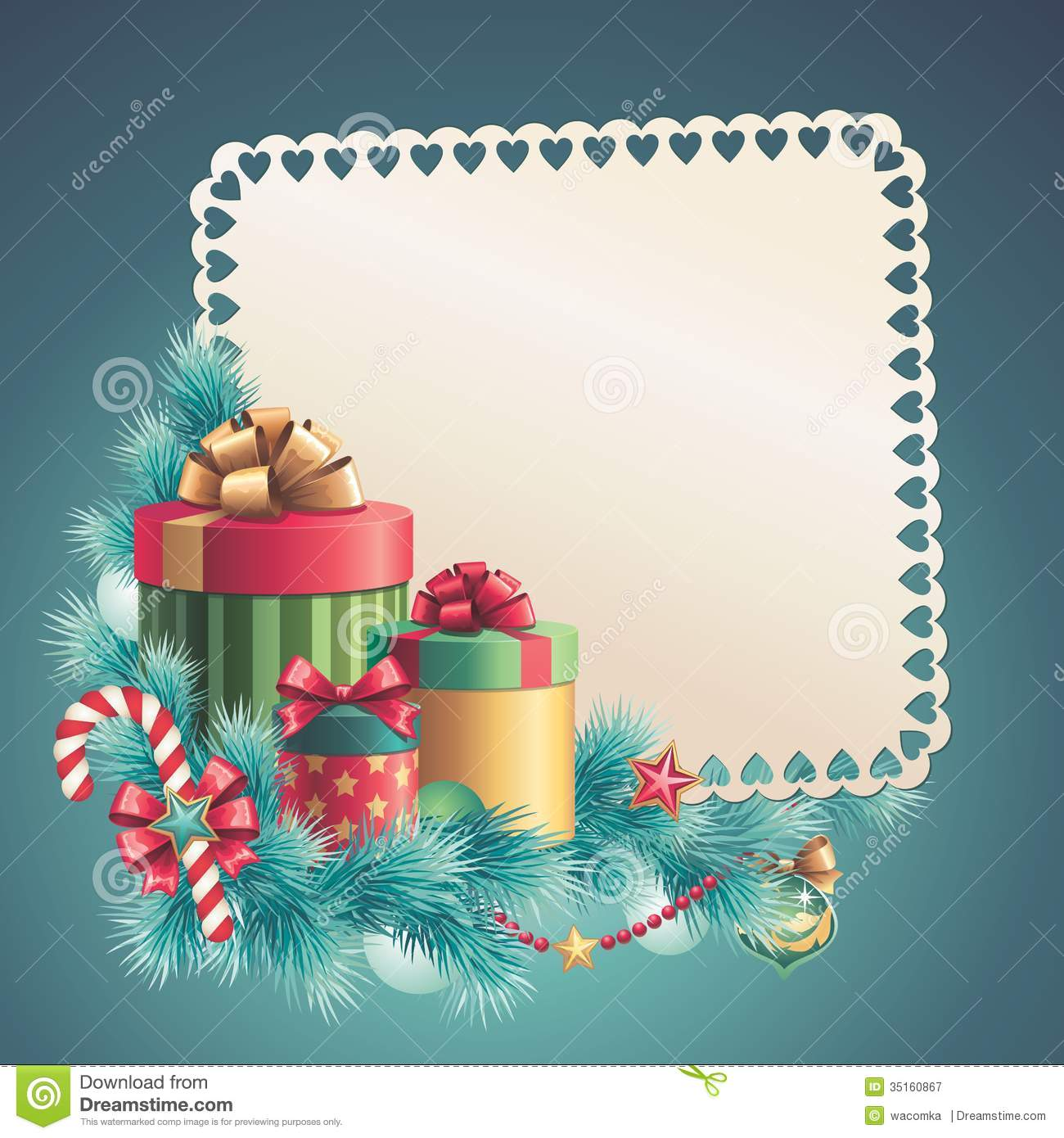 Christmas Gift Boxes Stack Greeting Card Stock Illustration - Christmas greeting card template