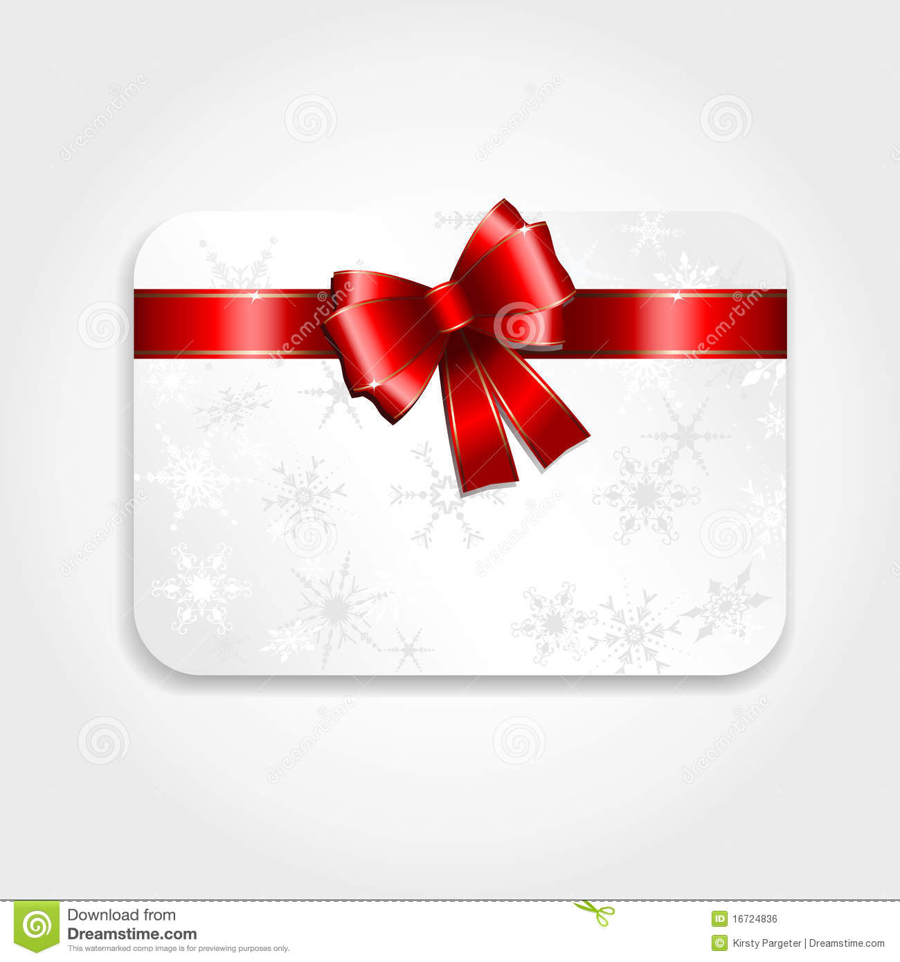 Christmas Gift Card Stock Vector Illustration Of Gift 16724836