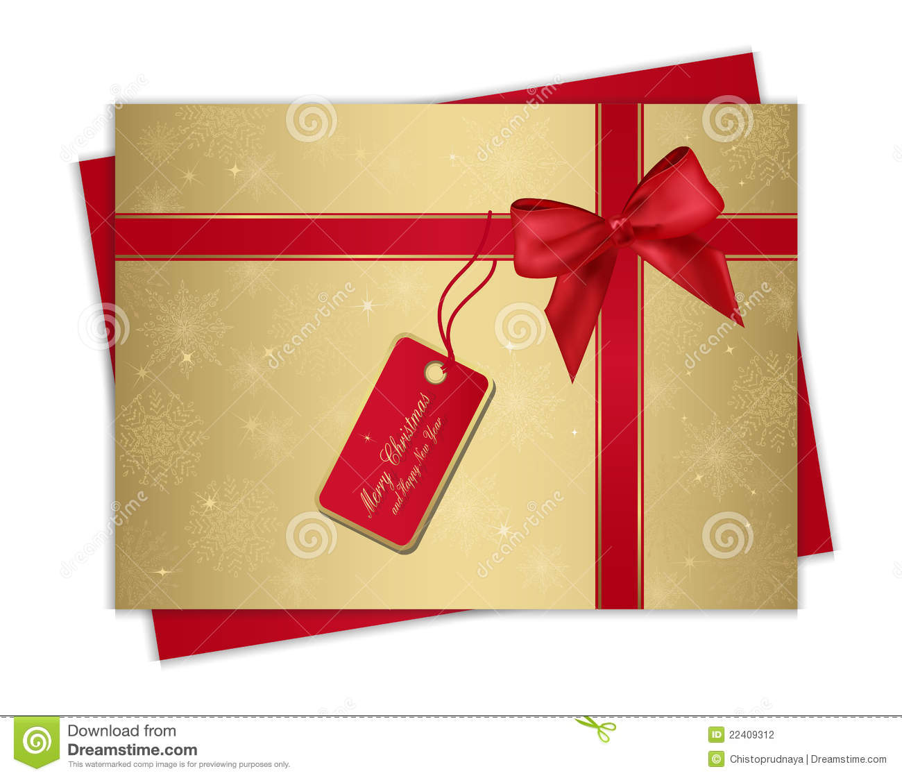 Christmas gift card stock photography image 22409312 for Christmas ideas for christmas cards