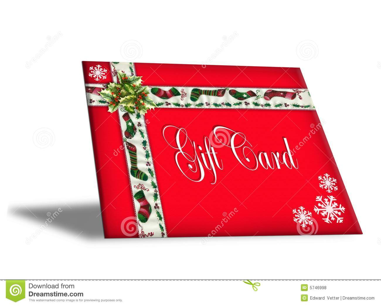 Christmas gift card illustration d stock