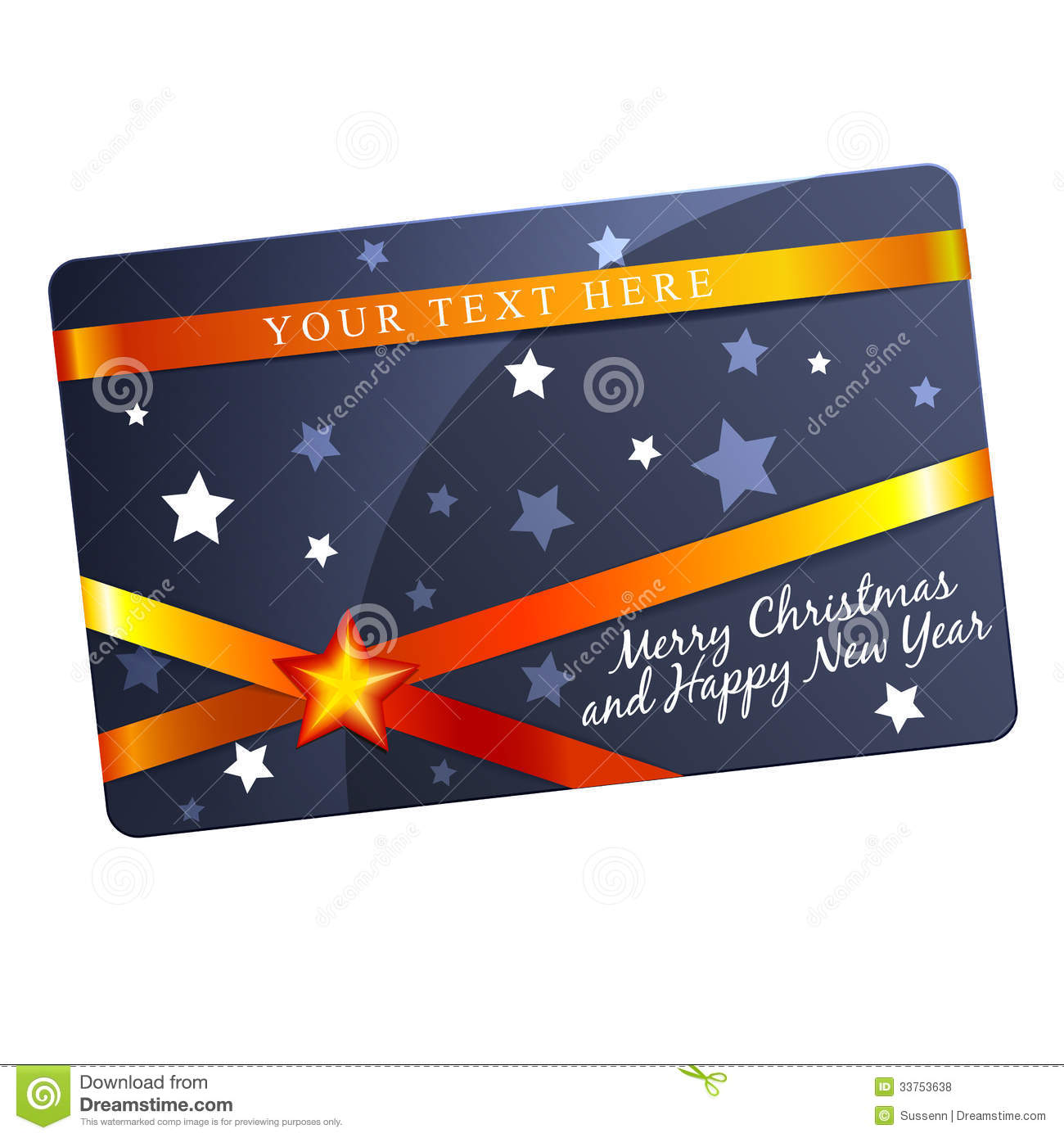 Christmas Gift Card Template Royalty Free Stock Photos - Image ...