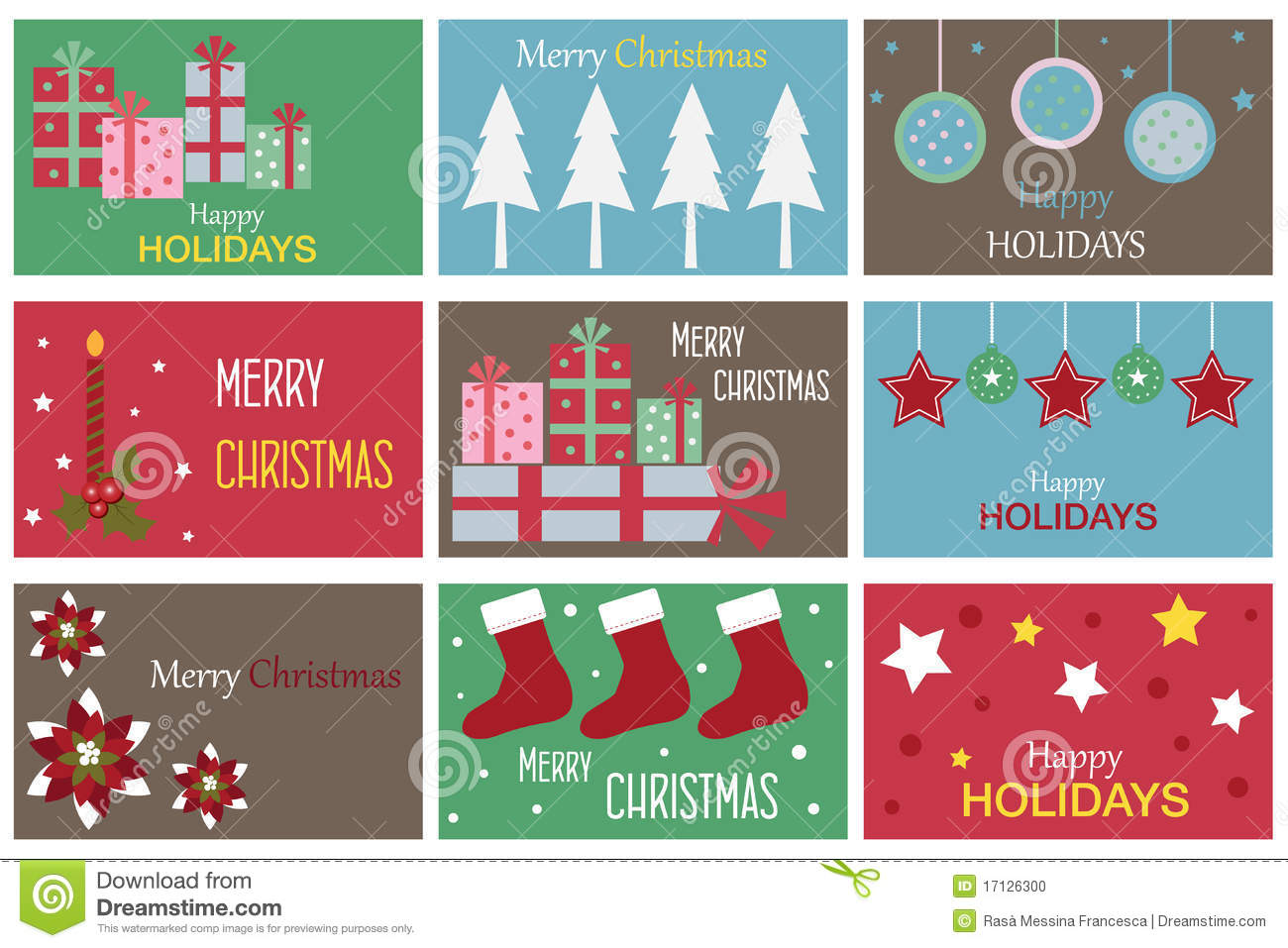 Christmas Gift Cards Illustration 17126300 - Megapixl