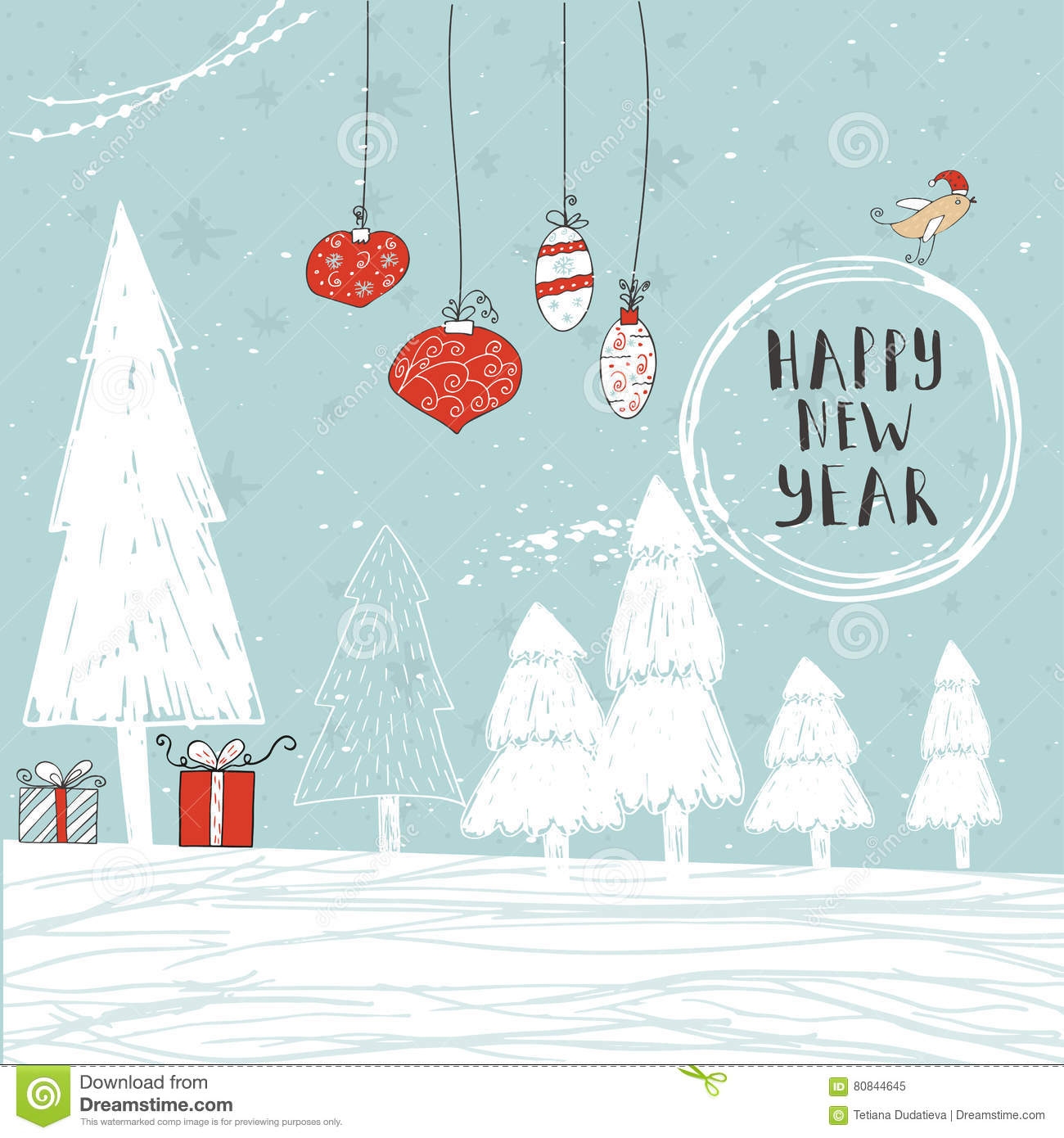 Christmas Gift Cards Stock Vector Illustration Of Design 80844645