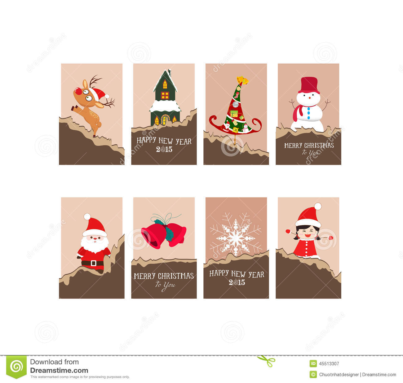 Christmas Gift Ideas For Design Lovers: Christmas Gift Cards Stock Vector. Image Of 2015, Artwork