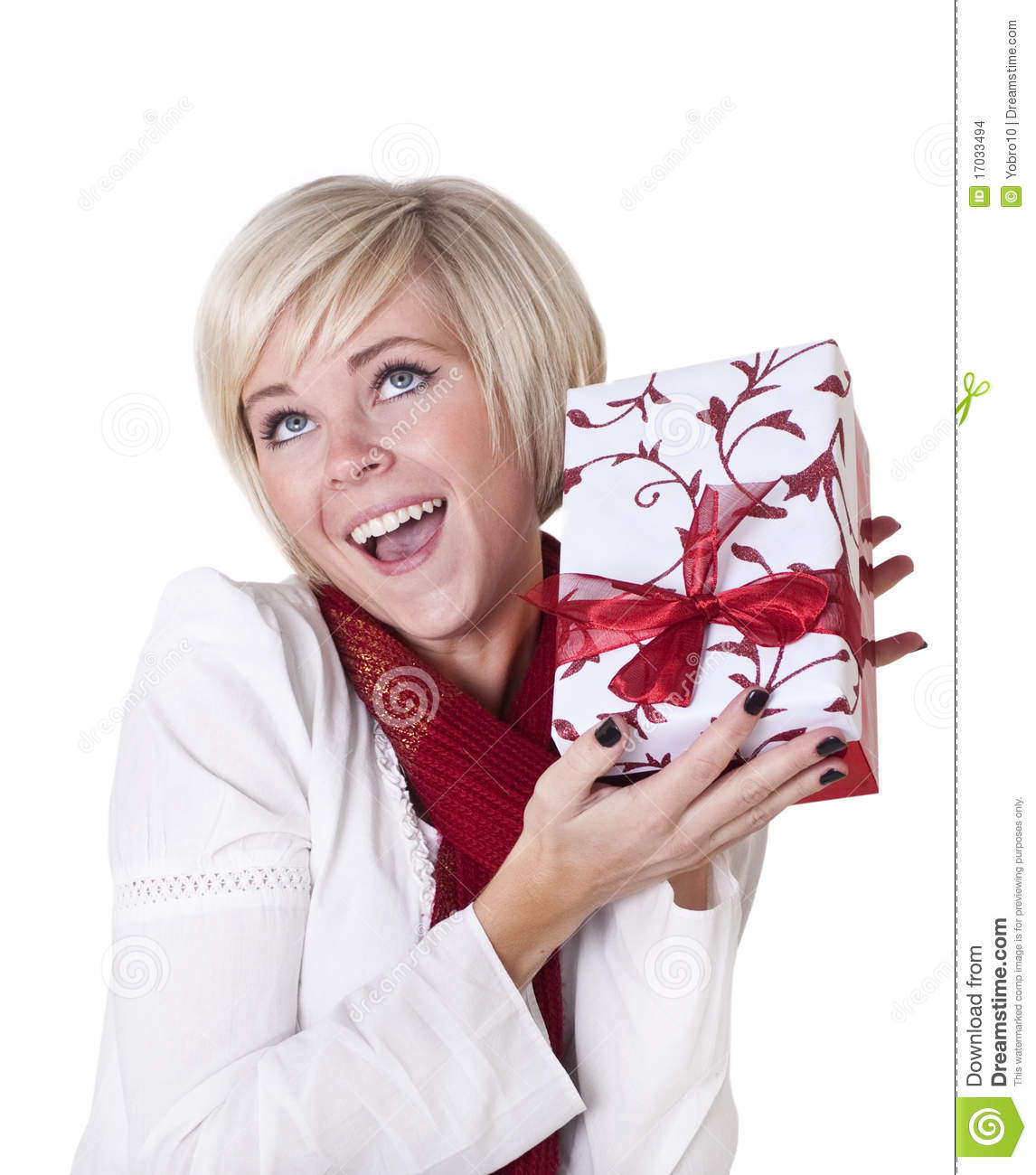 Christmas gift excitement