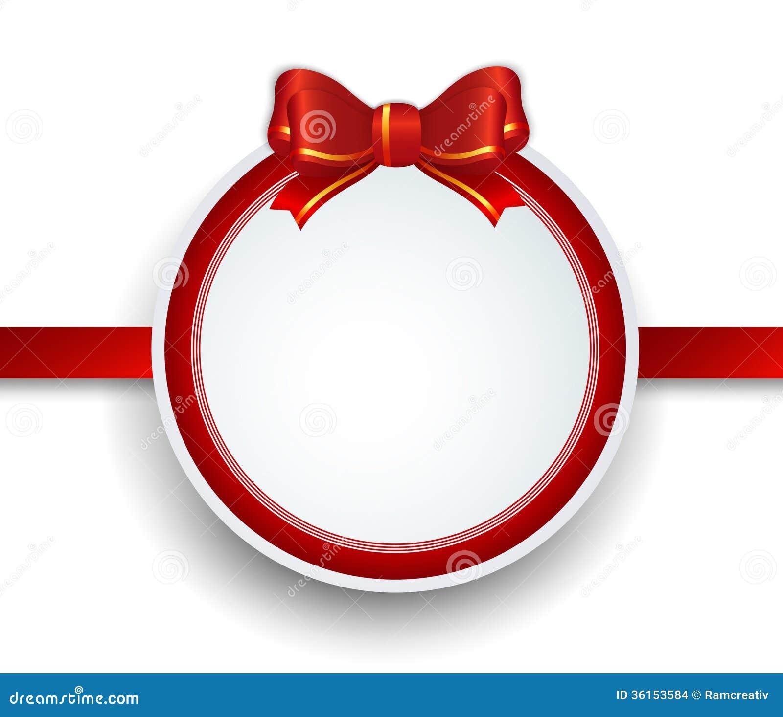 Nice Christmas Card Ornament Ball #2: Christmas-gift-frame-red-ribbon-bow-illustration-36153584.jpg