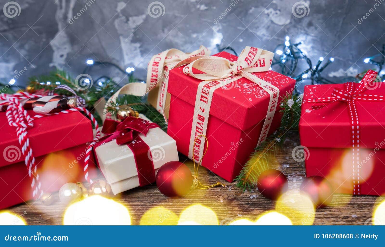 Christmas Gift Giving Images.Christmas Gift Giving Stock Photo Image Of Lights Snow