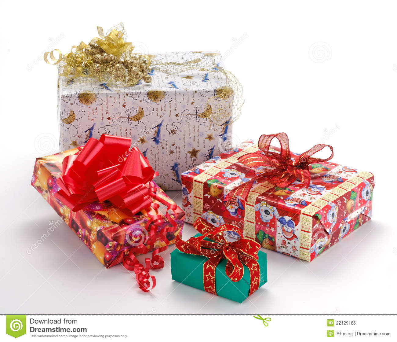Christmas gift pack stock photo image of christmas golden 22129166 christmas gift pack negle Images