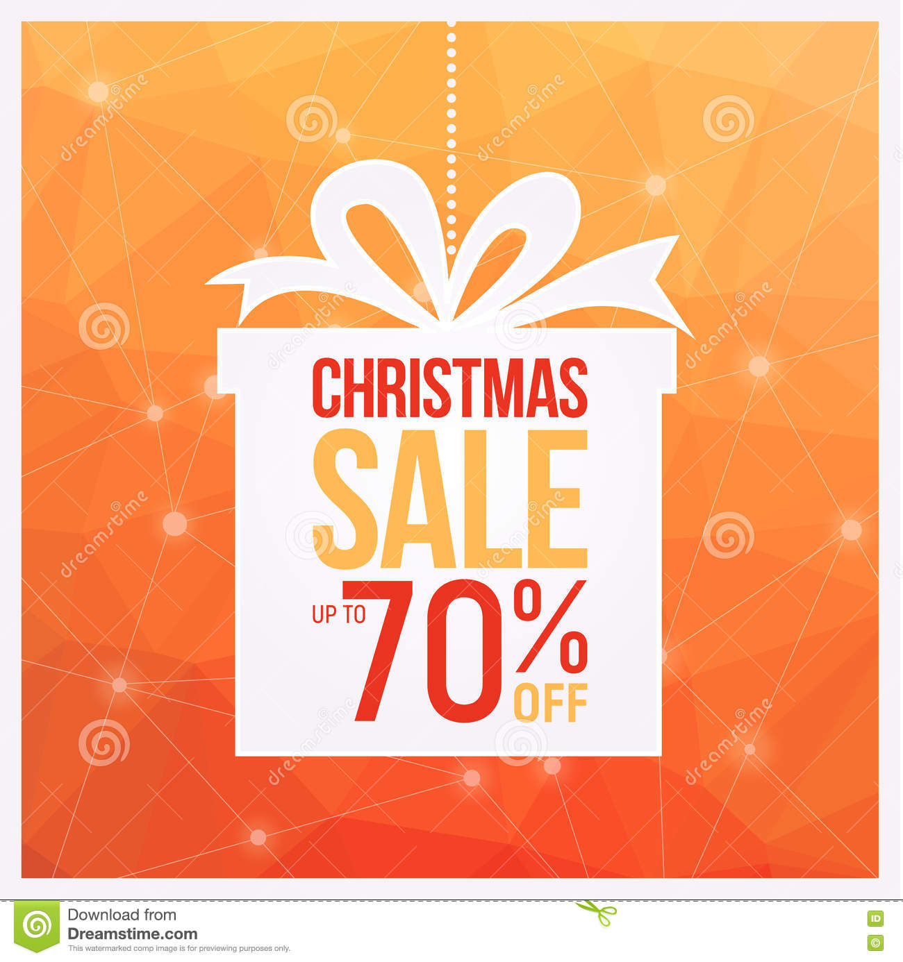 Christmas Gift Sale Flyers Orange Colors, Can Be Used As Poster Or ...
