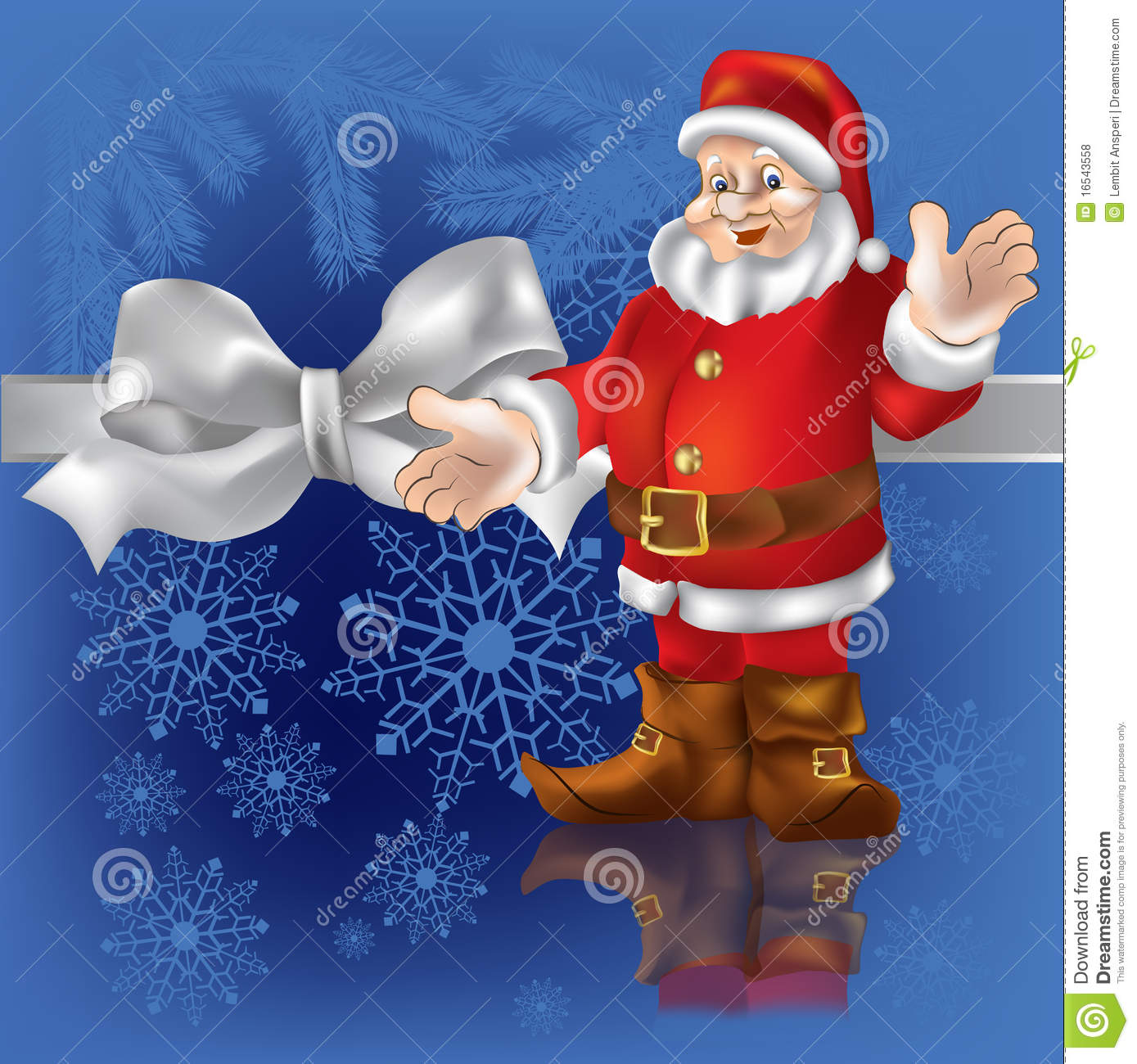 christmas gift santa claus on a blue royalty free stock photos