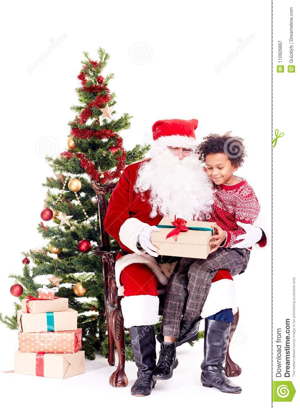 Christmas Gift From Santa Claus Stock Image - Image of cultures ...