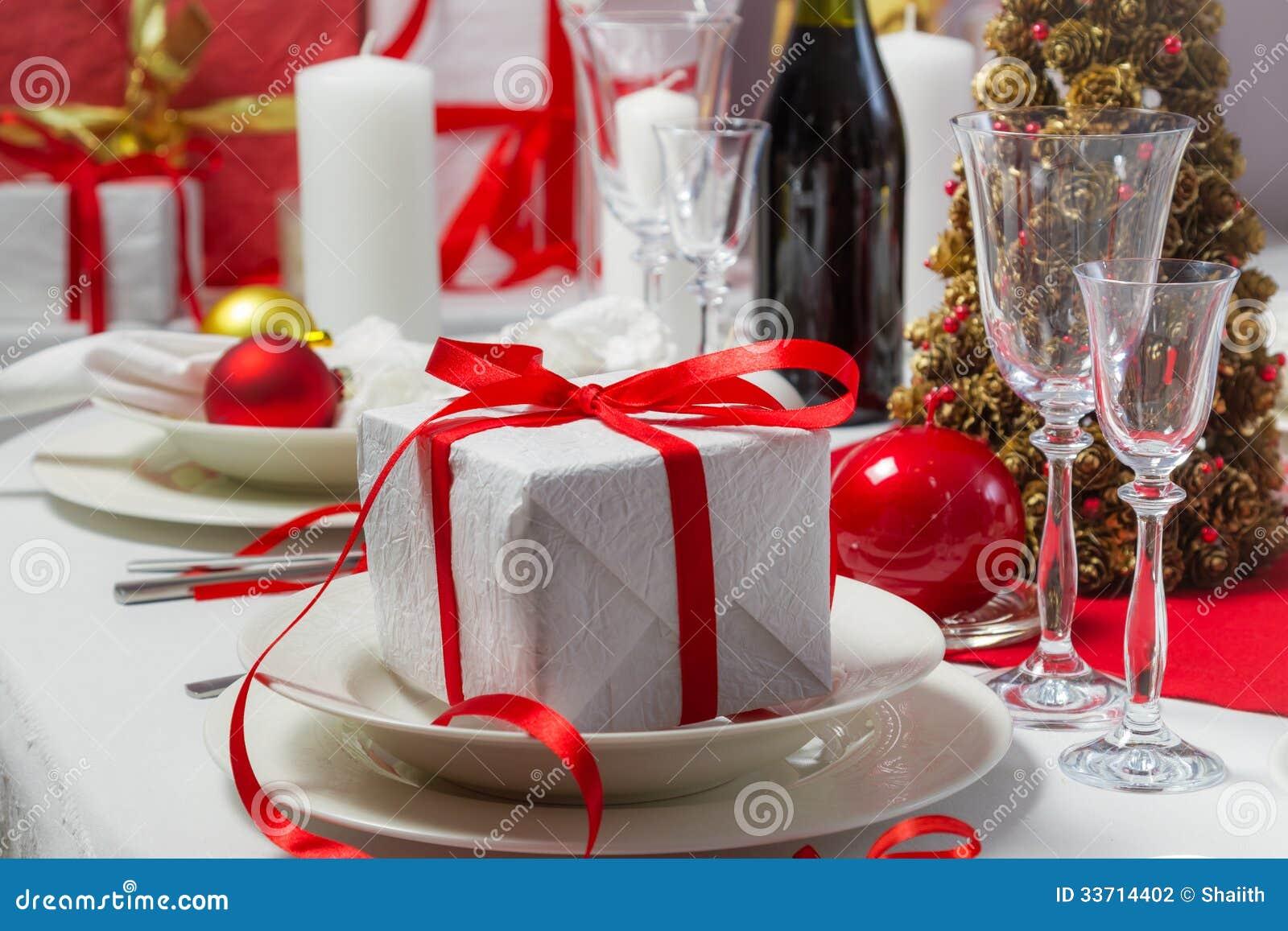 Christmas gift on the table stock photography image - Table gifts for christmas ...