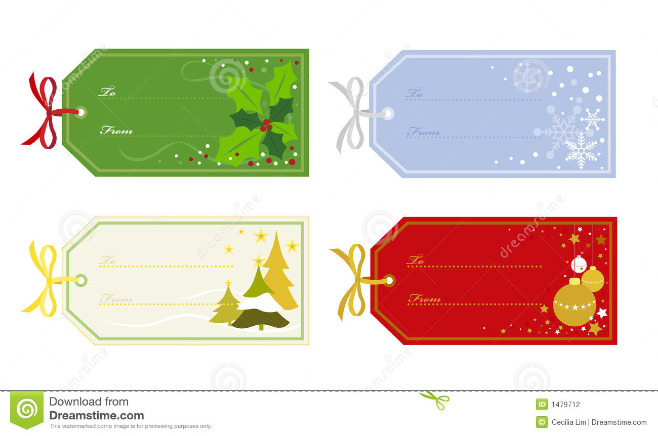 christmas gift tags stock vector illustration of snow 1479712